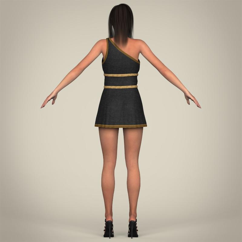 realistic young gorgeous woman 3d model 3ds max fbx c4d lwo ma mb texture obj 209253