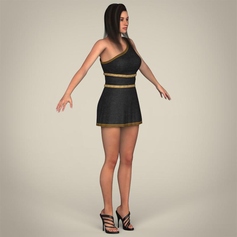 realistic young gorgeous woman 3d model 3ds max fbx c4d lwo ma mb texture obj 209254