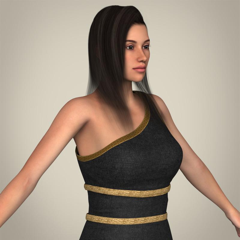 realistic young gorgeous woman 3d model 3ds max fbx c4d lwo ma mb texture obj 209255