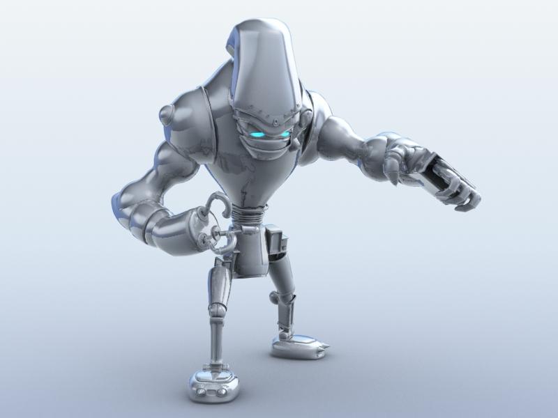 robot 13 3d model 3ds max fbx obj 209267