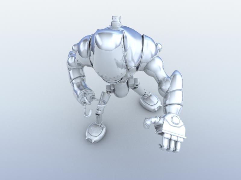 robot 13 3d model 3ds max fbx obj 209268