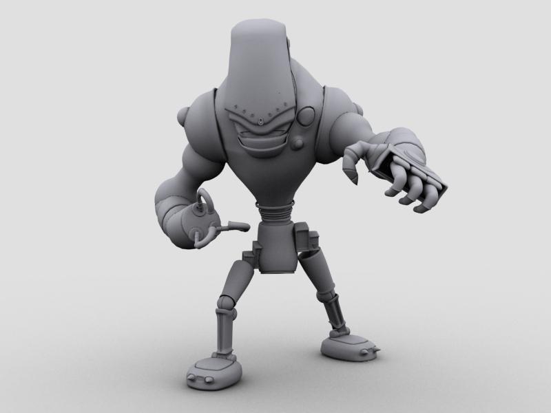 robot 13 3d model 3ds max fbx obj 209269