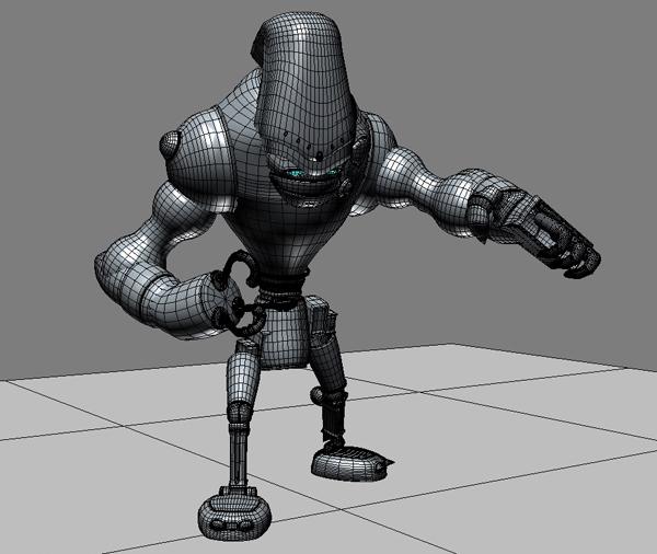 robot 13 3d model 3ds max fbx obj 209270