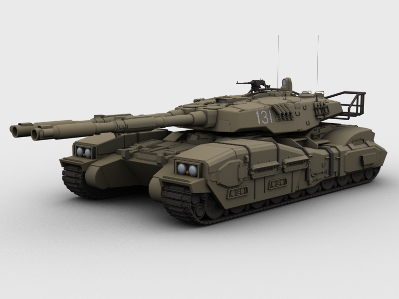 type 61 main battle tank 3d model 3ds max fbx obj 209272