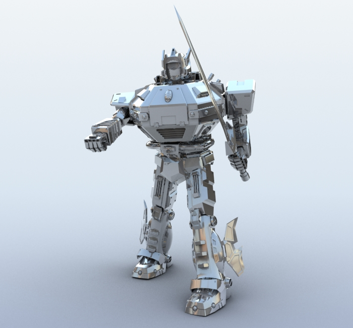 robot 09 3d model 3ds max fbx obj 209281