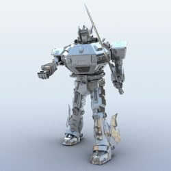 Robot 09 3d model 3ds max fbx obj