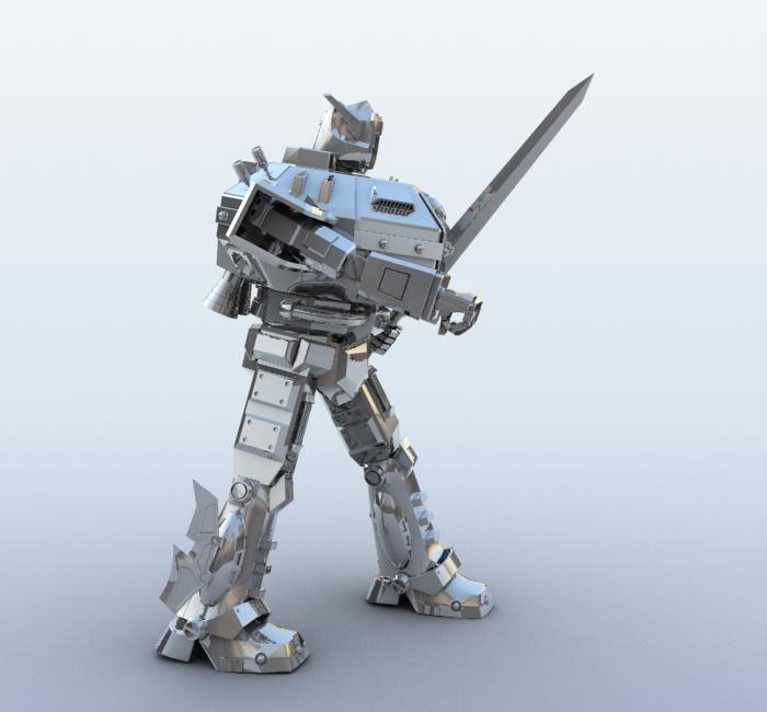 robot 09 3d model 3ds max fbx obj 209282