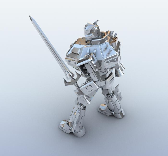 robot 09 3d model 3ds max fbx obj 209283