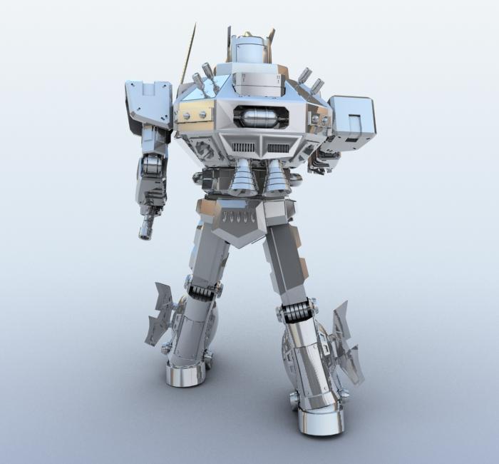 robot 09 3d model 3ds max fbx obj 209284