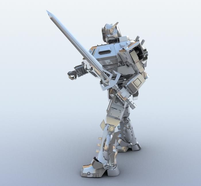robot 09 3d model 3ds max fbx obj 209285