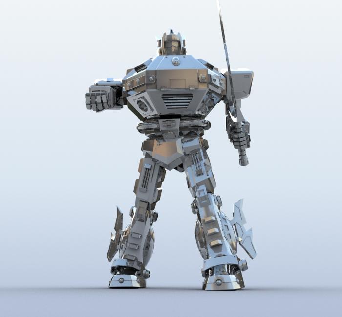 robot 09 3d model 3ds max fbx obj 209286