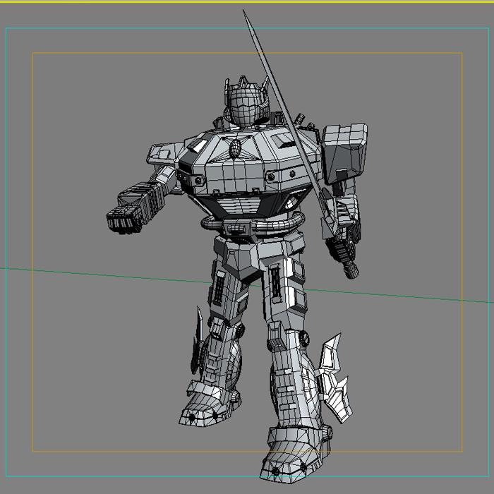 robot 09 3d model 3ds max fbx obj 209287