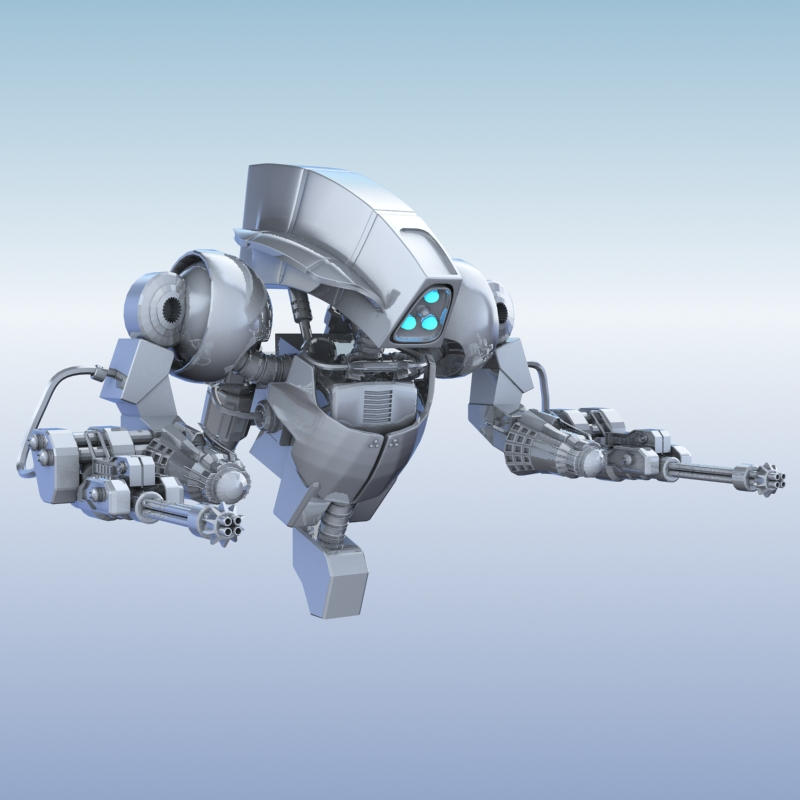 robot 14 3d model 3ds max fbx obj 209289