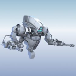 Robot 14 3d model 3ds max fbx obj