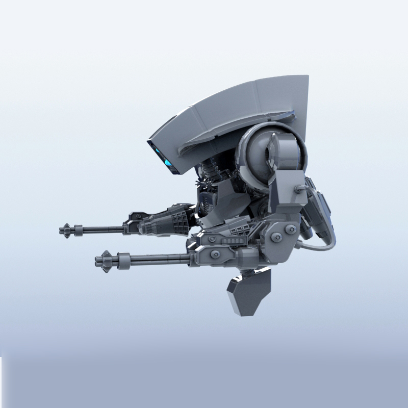 robot 14 3d model 3ds max fbx obj 209290