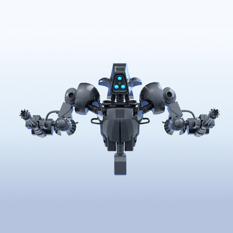 robot 14 3d model 3ds max fbx obj 209291
