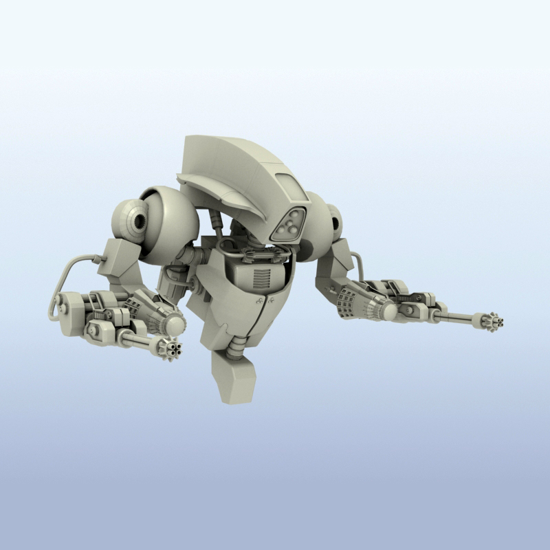 robot 14 3d model 3ds max fbx obj 209295
