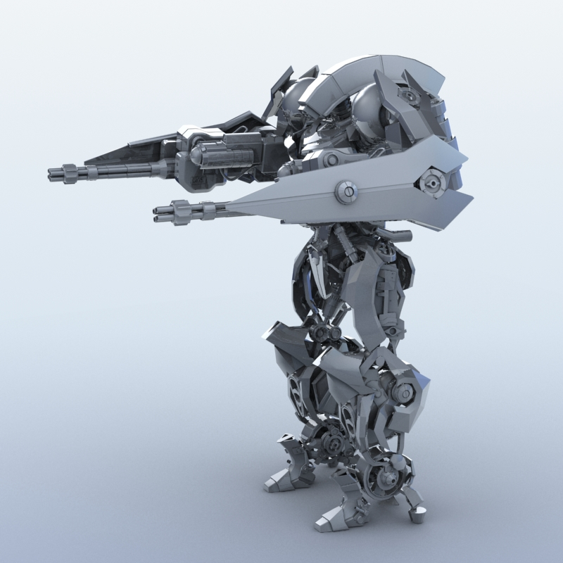 robot 15 3d model 3ds max fbx obj 209298