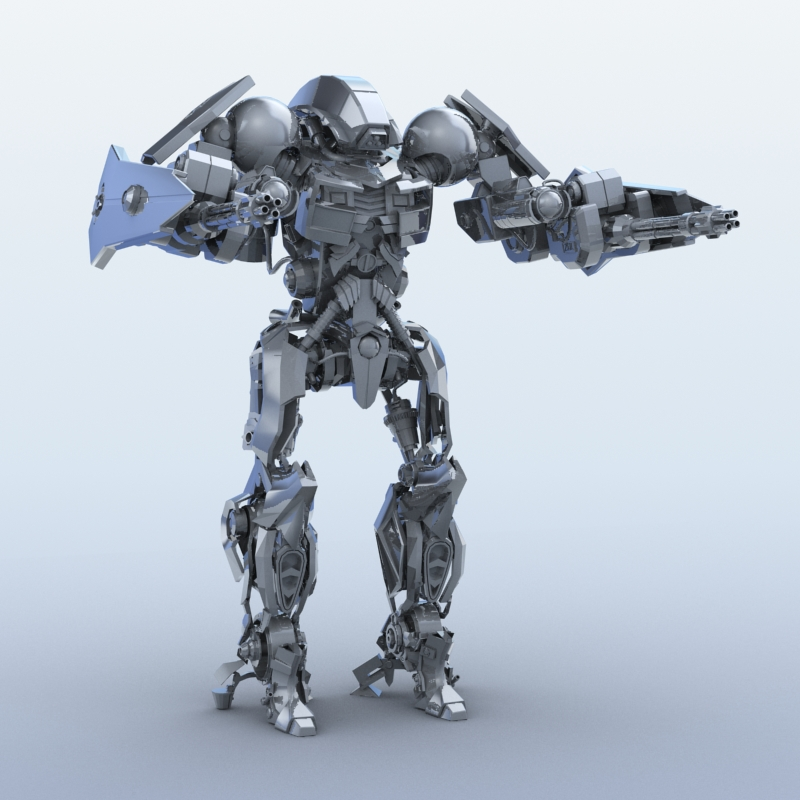 robot 15 3d model 3ds max fbx obj 209299