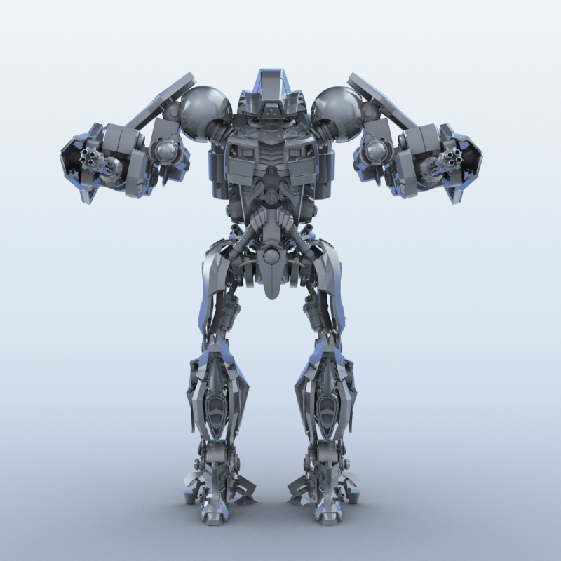 robot 15 3d model 3ds max fbx obj 209300