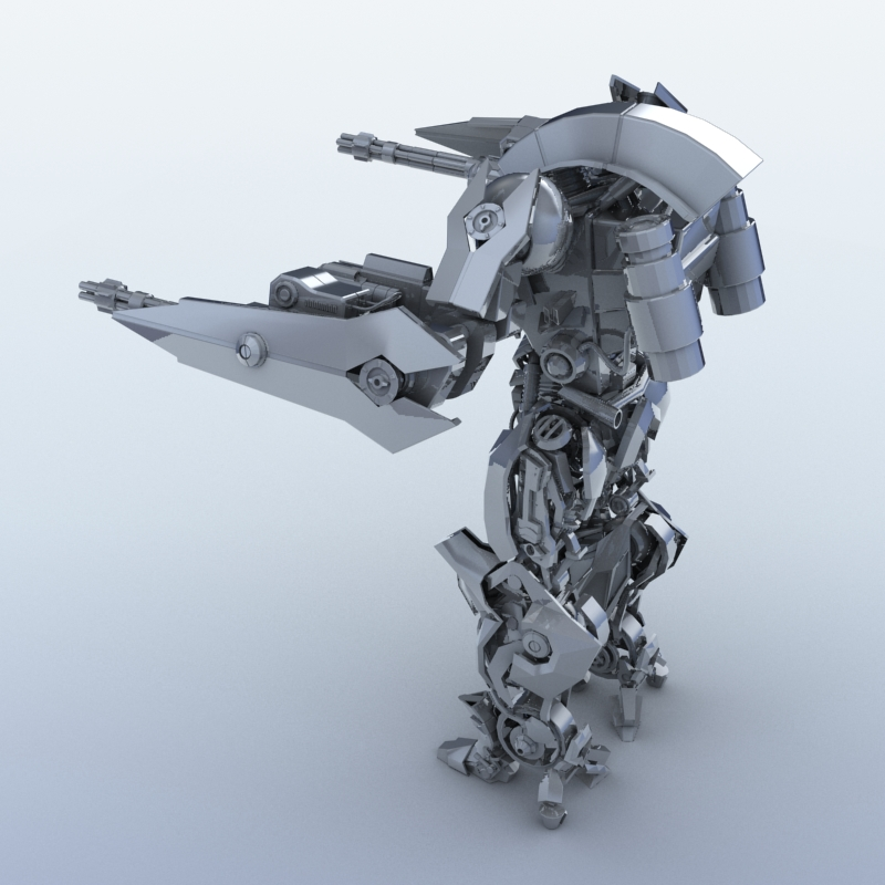 robot 15 3d model 3ds max fbx obj 209301