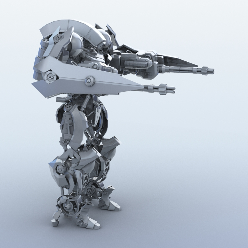 robot 15 3d model 3ds max fbx obj 209302