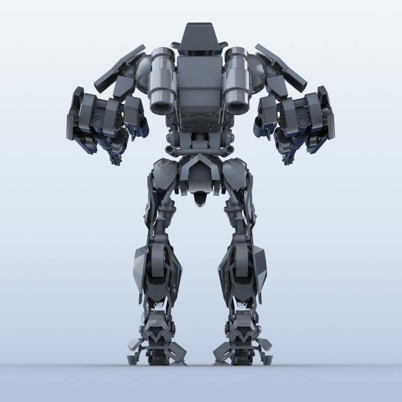 robot 15 3d model 3ds max fbx obj 209303