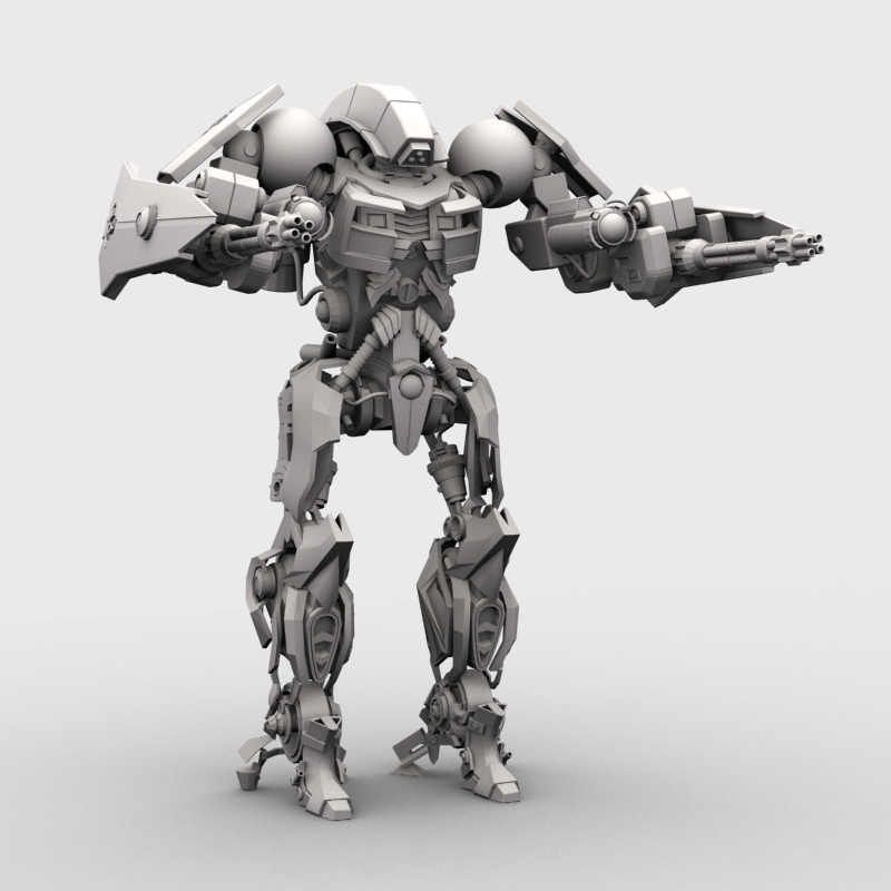 robot 15 3d model 3ds max fbx obj 209304