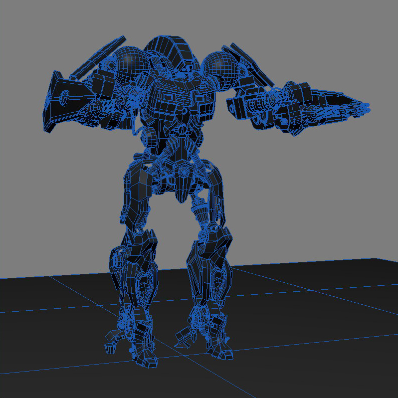 robot 15 3d model 3ds max fbx obj 209305