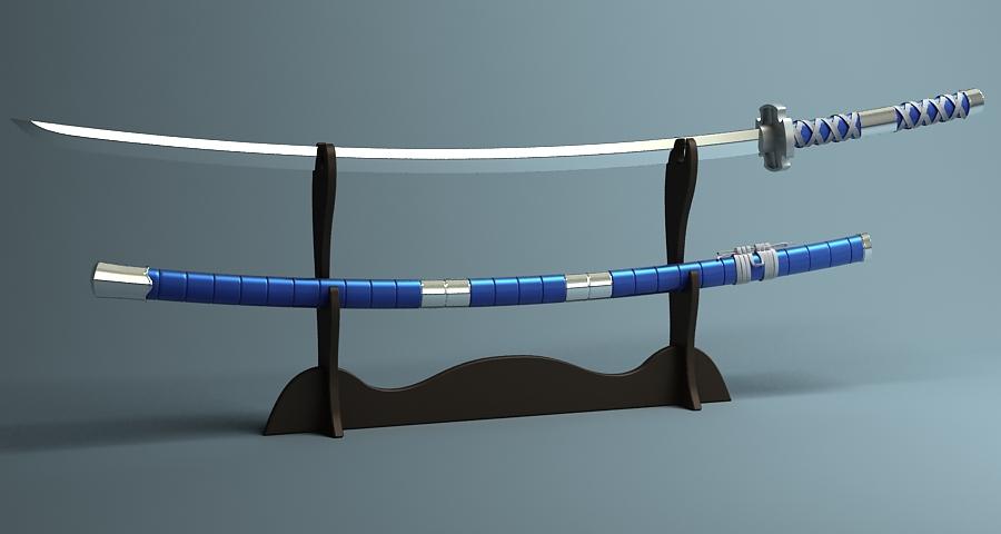 Японы katana цуглуулах 3d загвар 3ds max fbx obj 209308