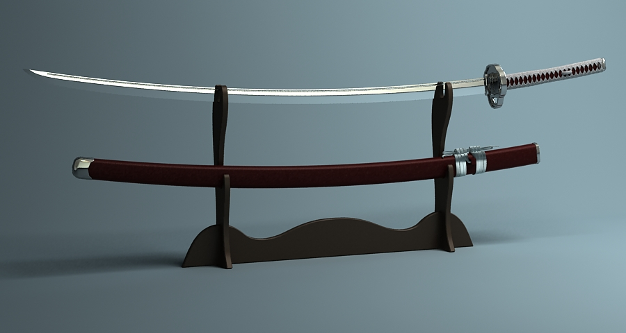 Японы katana цуглуулах 3d загвар 3ds max fbx obj 209313