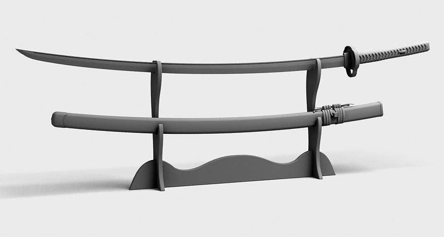 Японы katana цуглуулах 3d загвар 3ds max fbx obj 209314