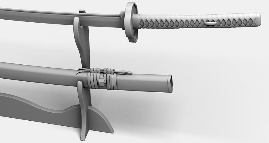 Японы katana цуглуулах 3d загвар 3ds max fbx obj 209315