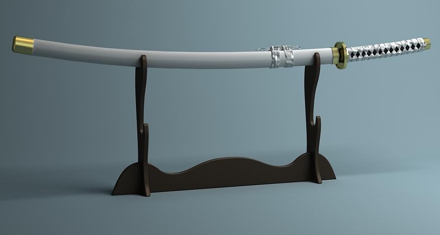 Японы katana цуглуулах 3d загвар 3ds max fbx obj 209317