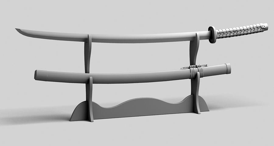 Японы katana цуглуулах 3d загвар 3ds max fbx obj 209318