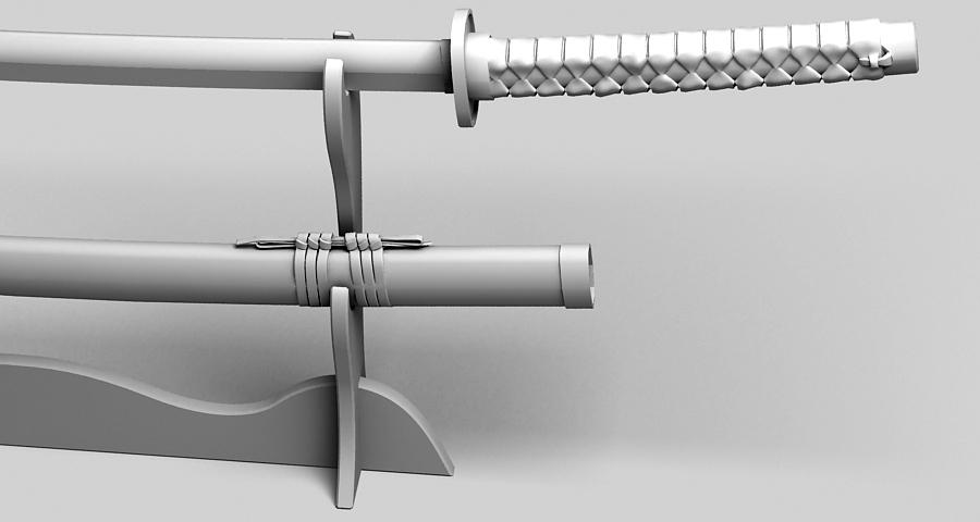 Японы katana цуглуулах 3d загвар 3ds max fbx obj 209319