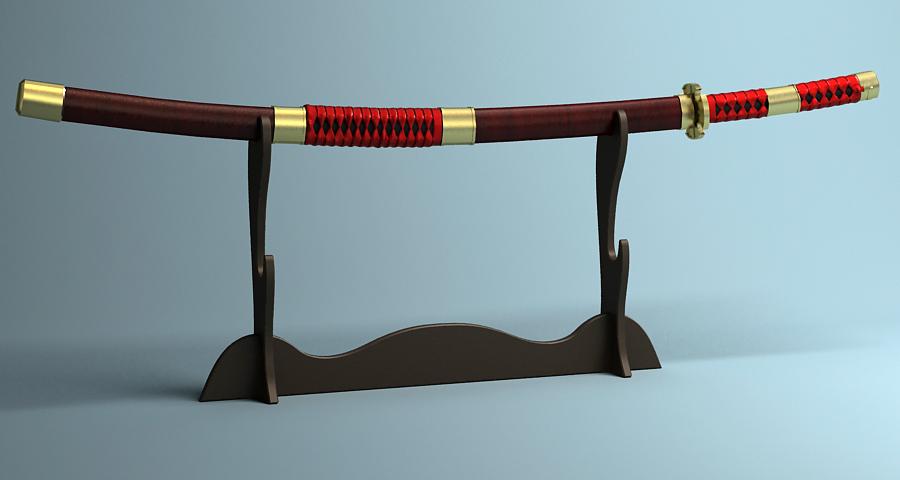 Японы katana цуглуулах 3d загвар 3ds max fbx obj 209320