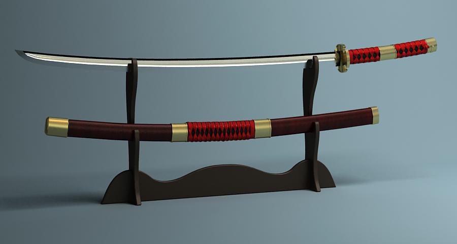 Японы katana цуглуулах 3d загвар 3ds max fbx obj 209321