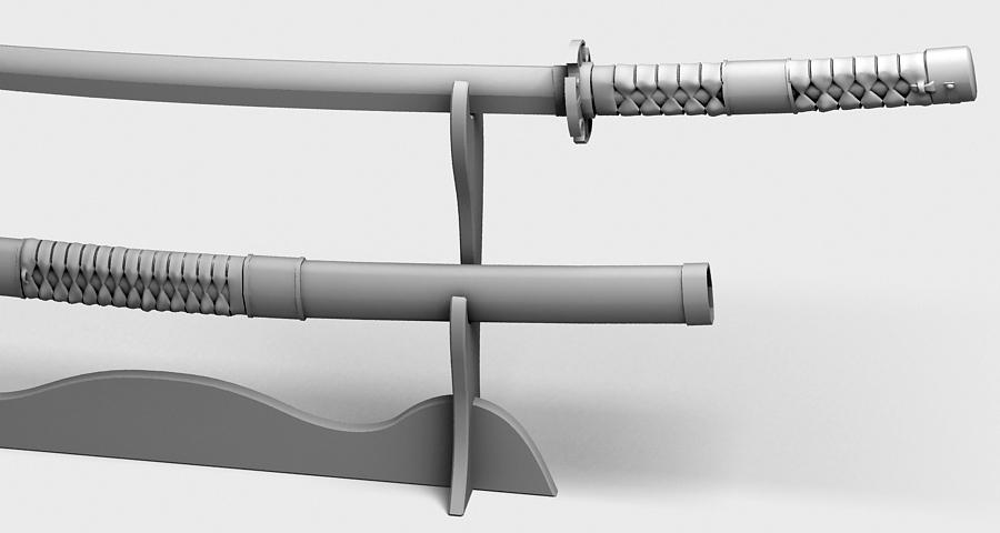 Японы katana цуглуулах 3d загвар 3ds max fbx obj 209323