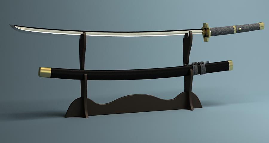 Японы katana цуглуулах 3d загвар 3ds max fbx obj 209324