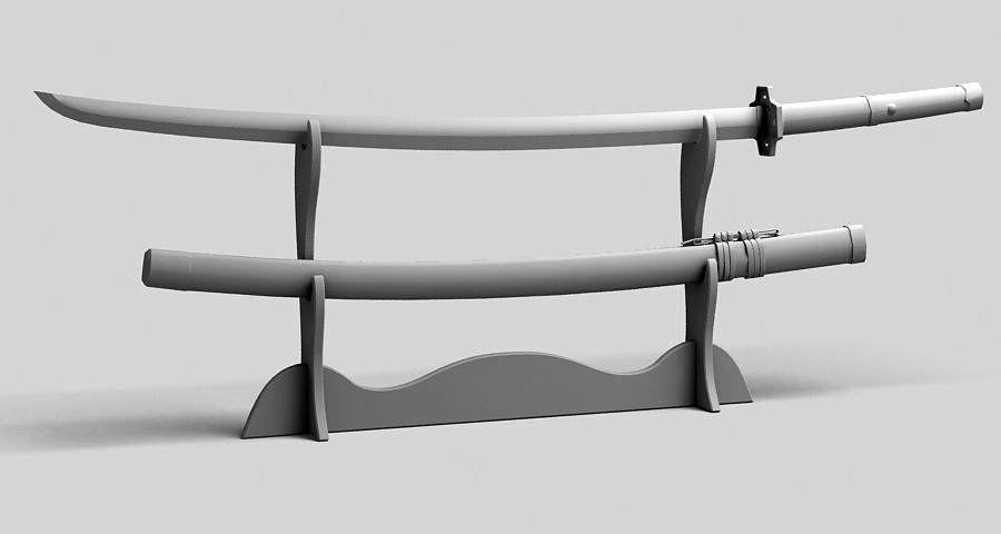 Японы katana цуглуулах 3d загвар 3ds max fbx obj 209326