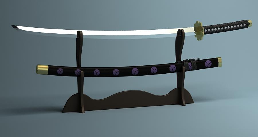 Японы katana цуглуулах 3d загвар 3ds max fbx obj 209329