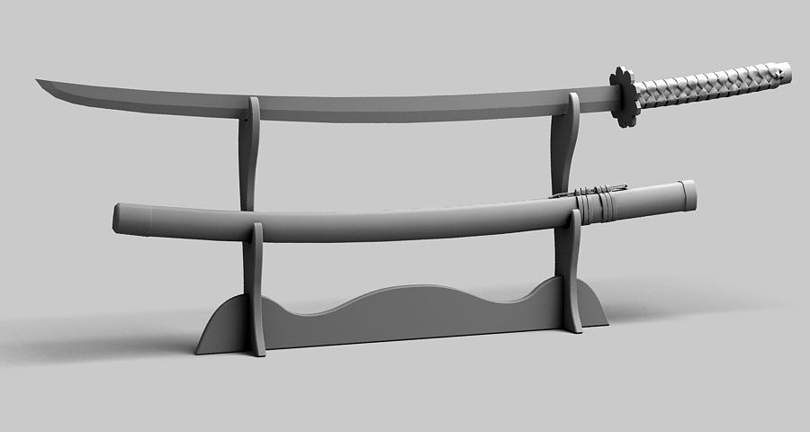 Японы katana цуглуулах 3d загвар 3ds max fbx obj 209330