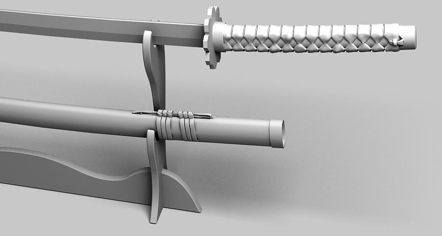 Японы katana цуглуулах 3d загвар 3ds max fbx obj 209331