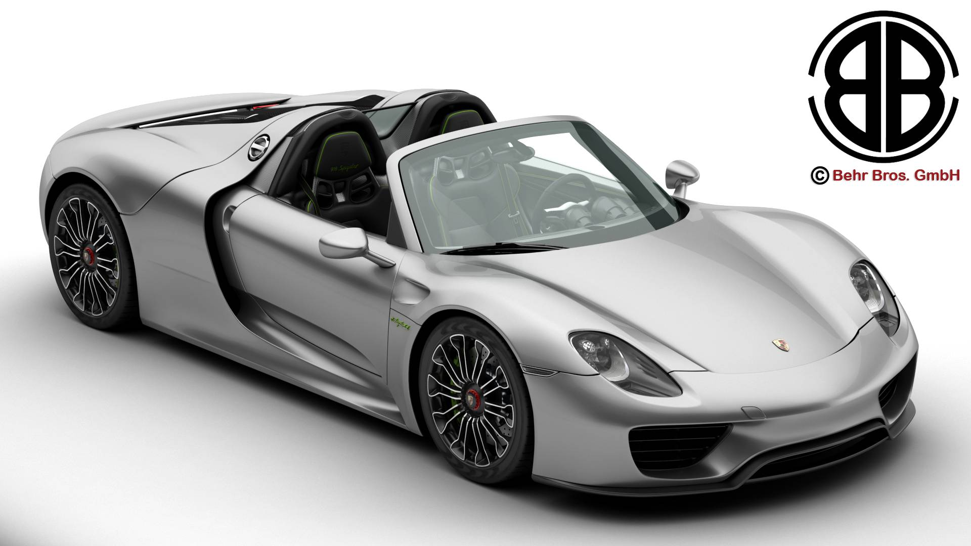 porsche 918 spyder with detachable roof 3d model 3ds max fbx c4d lwo ma mb obj 209333
