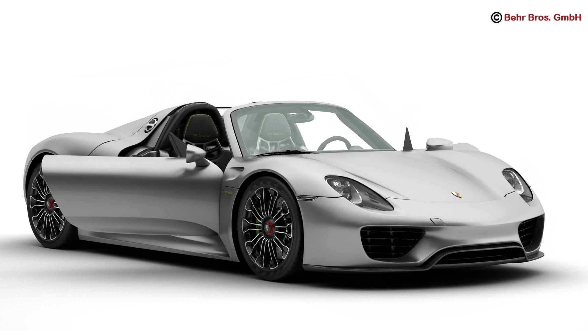 porsche 918 spyder with detachable roof 3d model vehicles. Black Bedroom Furniture Sets. Home Design Ideas