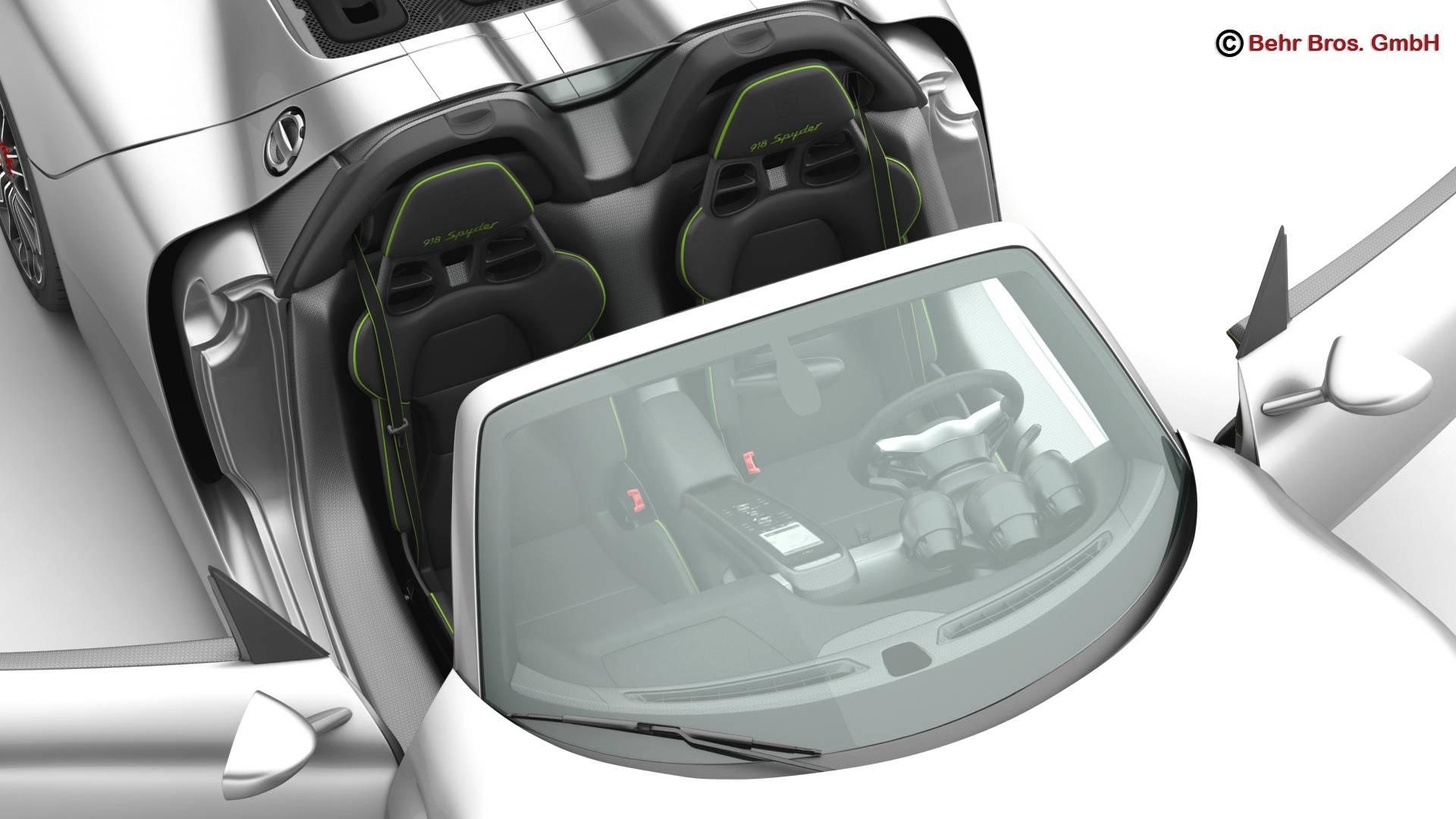porsche 918 spyder with detachable roof 3d model 3ds max fbx c4d lwo ma mb obj 209345