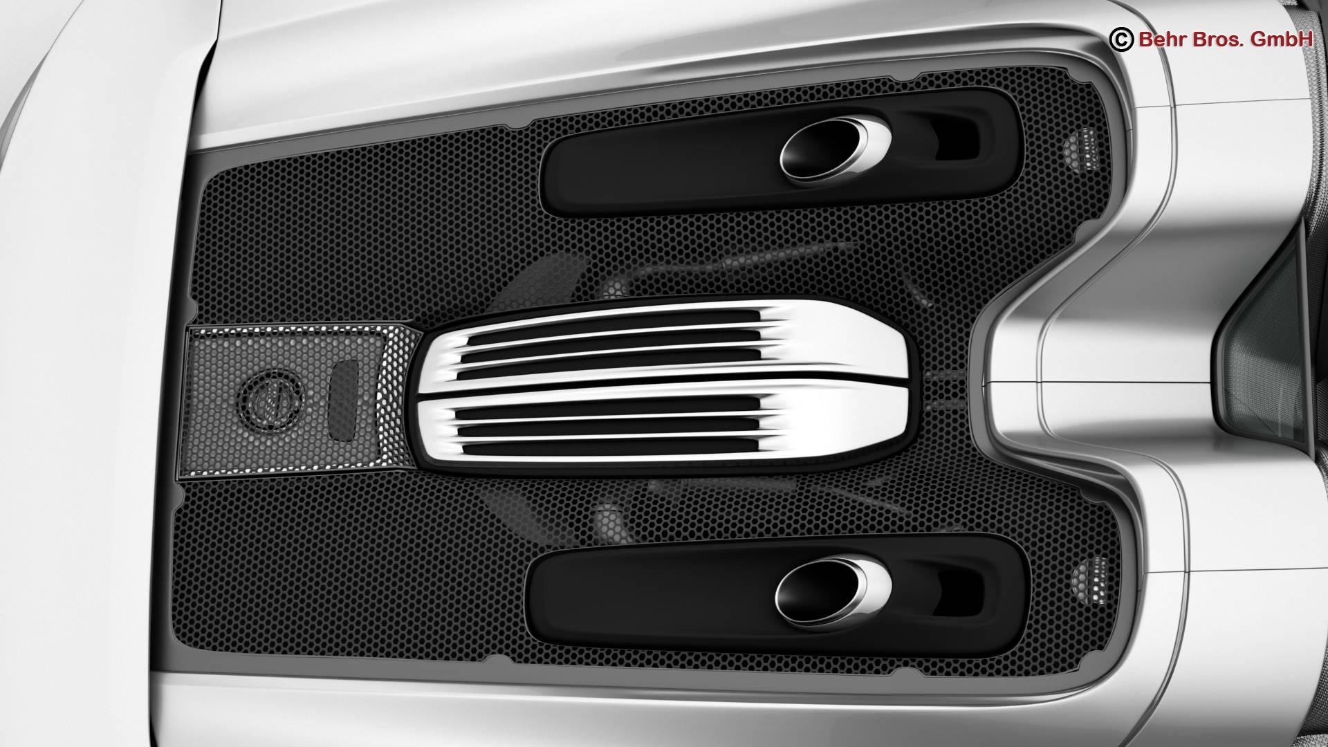 porsche 918 spyder with detachable roof 3d model 3ds max fbx c4d lwo ma mb obj 209346
