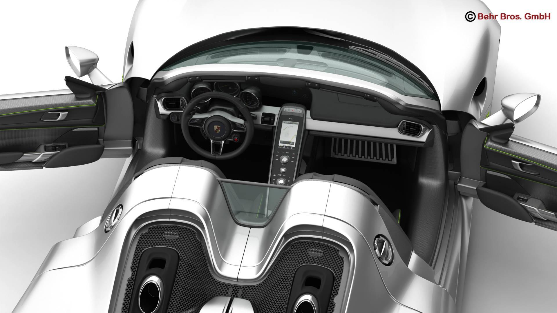 porsche 918 spyder with detachable roof 3d model 3ds max fbx c4d lwo ma mb obj 209347