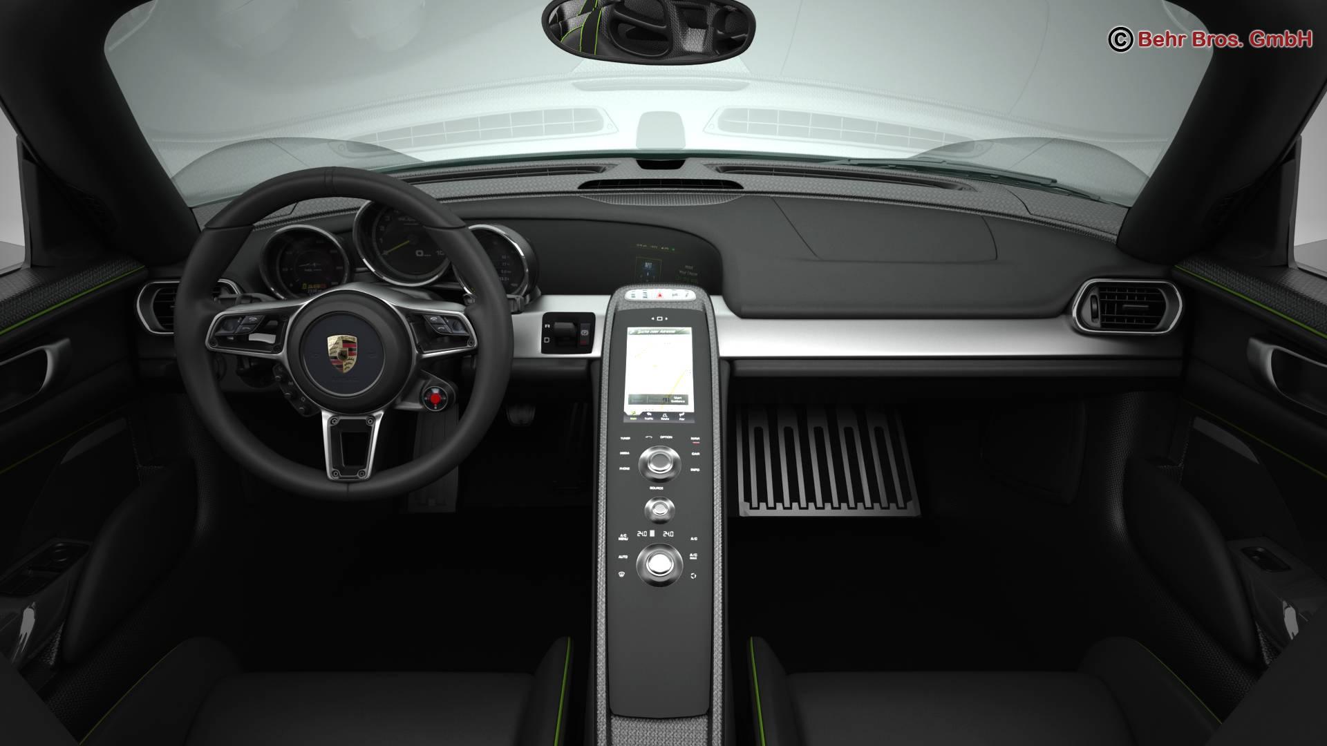 porsche 918 spyder with detachable roof 3d model 3ds max fbx c4d lwo ma mb obj 209348
